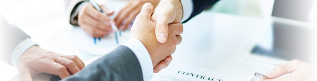 Shaking hands business deal